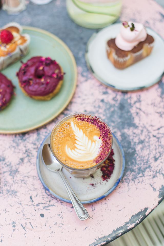 Meet Farm Girl Cafe, your destination for healthy, wholesome food in London's Notting Hill.  The rose lattes are everything!