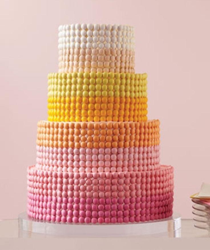 Best of Gradients.... m gradient wedding cake