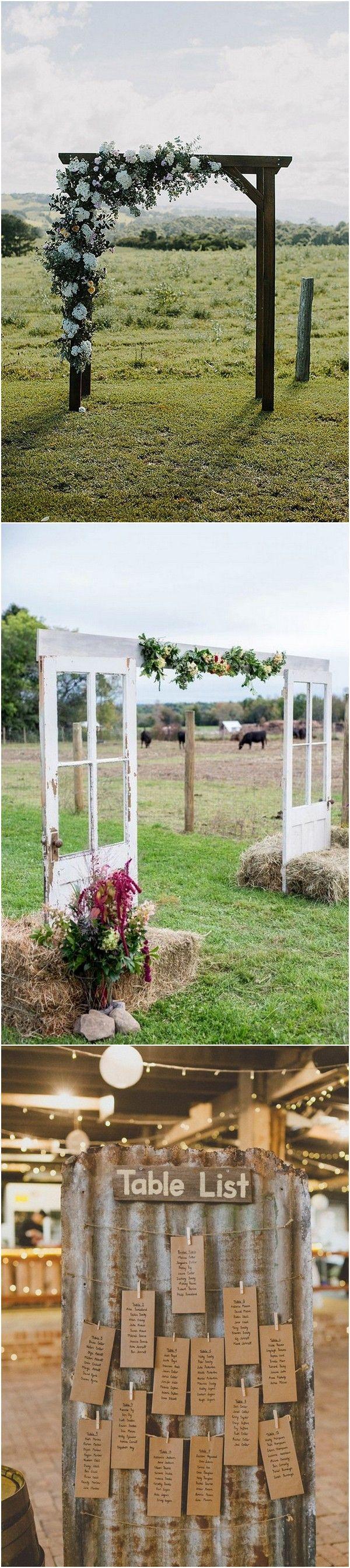 rustic farm wedding decoration ideas #weddingideas #countrywedding #rusticwedding #farmwedding #wedding2018