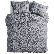The Pioneer Woman Ruched Chevron Duvet Cover, White Image 6 of 6