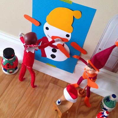 Here are 33 Creative Elf on the Shelf Ideas to help you get through the Holiday Season Craziness! #ElfOnTheShelf #Christmas #KidsChristmas