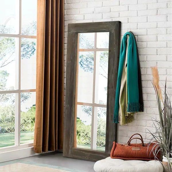 Rustic Wood Rectangular Freestanding/Full-Length/Floor ...