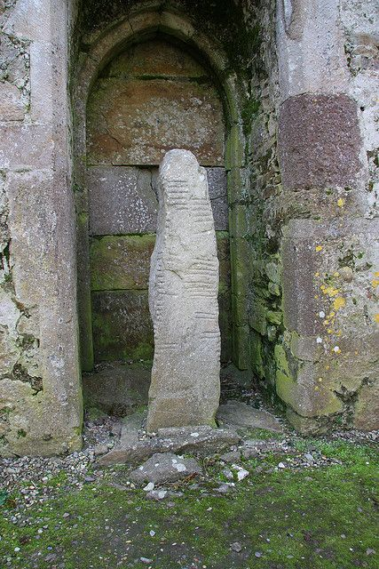 Ogham Stone, Ardmore, County Waterford, Ireland