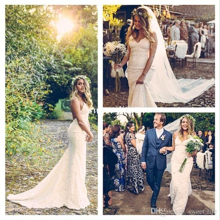 Katie May Lanai Gown Gorgeous Brazilian Bride Full Lace Dresses 2016 Custom Made Spaghetti Backless Beach Boho Wedding Dresses Bridal Gowns Online with $121.46/Piece on Sweet-life's Store | DHgate.com