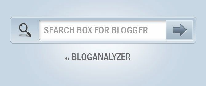 Stylish and Beautiful Search Boxes for Blogger - Bloganalyzer
