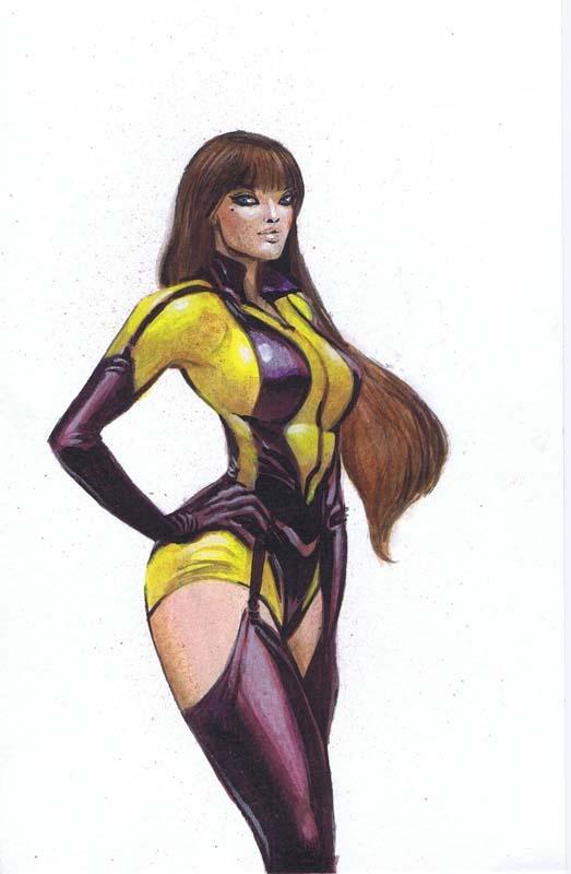 Silk Spectre Pin-Up by Moritat | DC Comics Original Art ...