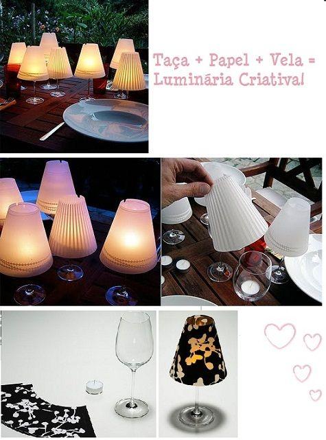 Abajur Ideias de Organização e decoração com reciclagem   Dicas e fotos.  /   Lamp ideas of Organization and decor with recycling tips and photos.