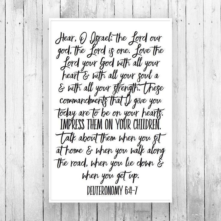 """Teach Them to Your Children"" (Deuteronomy 6) Scroll Print"