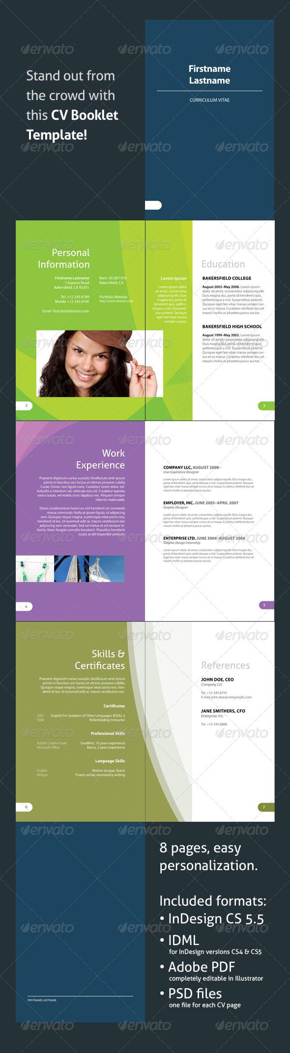 Magnificent Resume Booklet Template Free Illustration   Example .