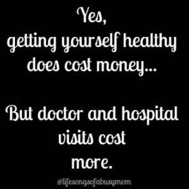 Invest in your health, or you'll be investing in your sickness!  plexusslim.com/jelrod Ambassador # 400615