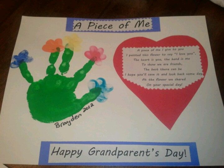 Grandparent's day craft from my preschoolers.