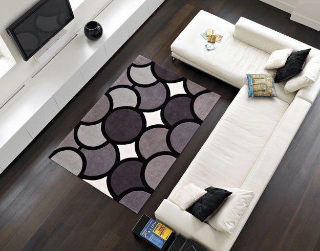 Harlequin Bubble Facet Grey Modern Rug Rugs UkLiving Room