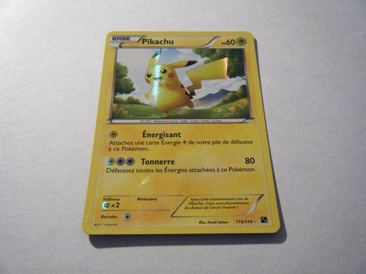 Pikachu - 60PV - 115/114 - Pokemon Noir & Blanc - Secret Rare
