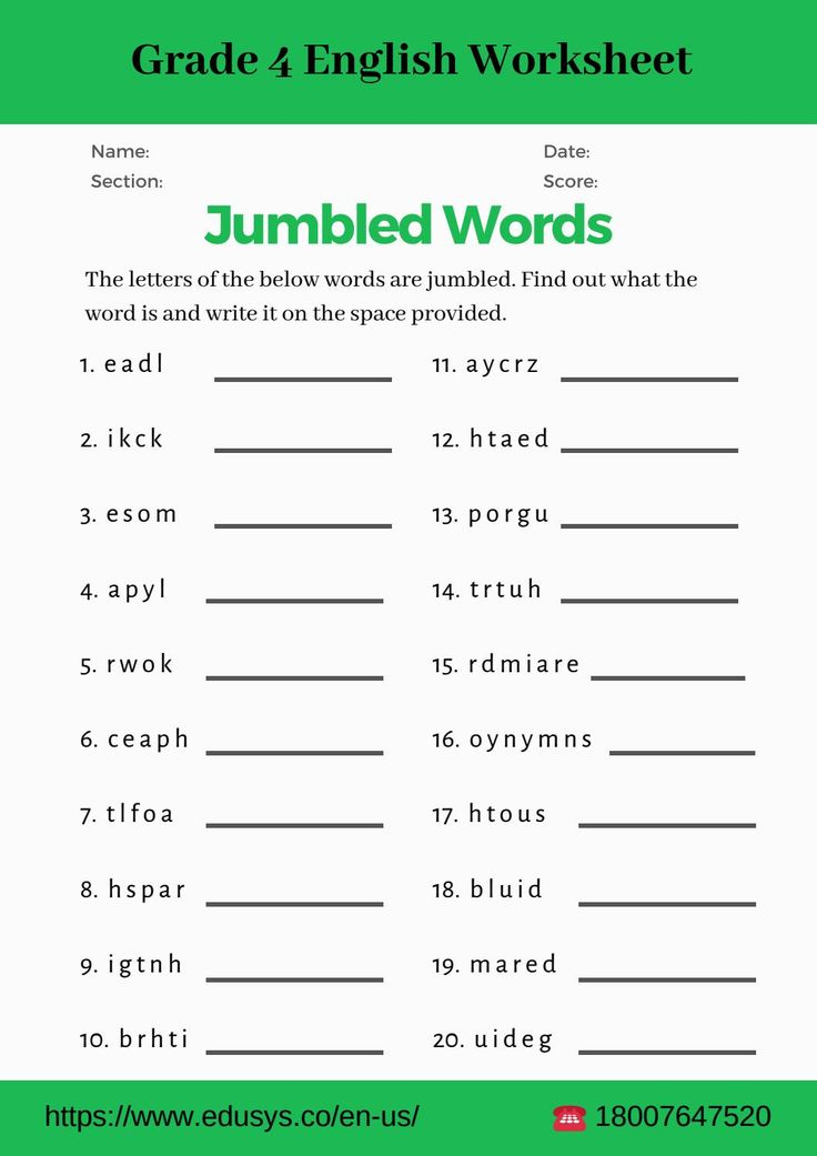 4th grade grammar worksheets pdf in 2020 jumbled words