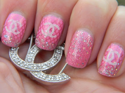 For the color and sparkle only.....Chanel is out of my budget but i wont get my first Chanel as nail art! Lololol