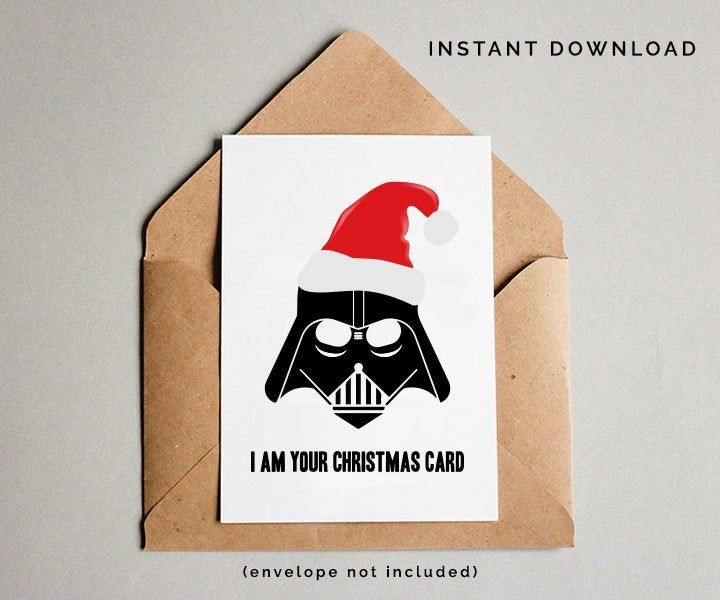 Star Wars Card Funny Christmas Card Star Wars Christmas Etsy Funny Christmas Cards Star Wars Christmas Gifts Funny Christmas Cards Diy