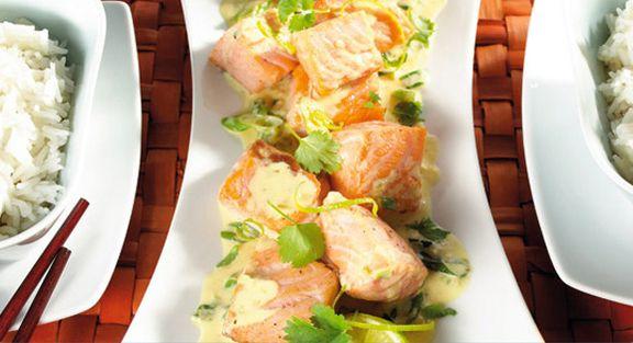 Filete de salmão com molho de wasabi
