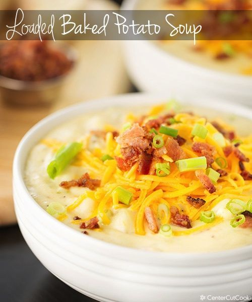 Loaded baked potato soup recipe! Better than Panera! Comes together in 35 minutes! #soup #bakedpotato
