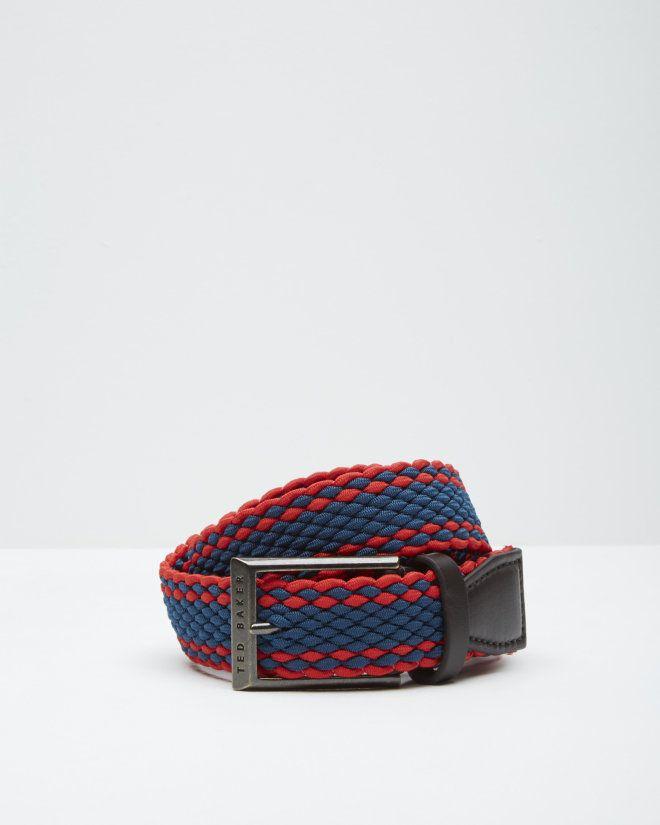 Striped woven elastic belt - Coral   Belts   Ted Baker FR