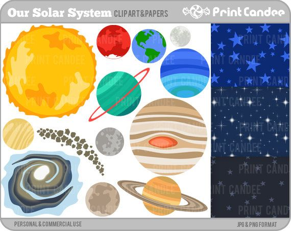 25+ best ideas about Solar system clipart on Pinterest | Planet ...