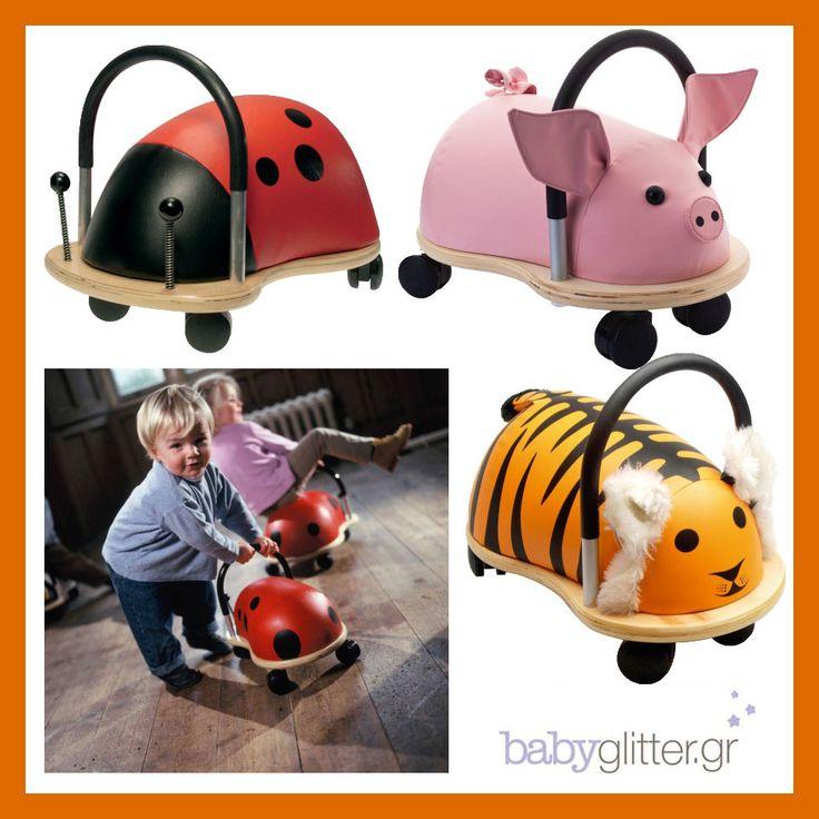 Το babyglitter.gr επιλέγει σήμερα βόλτες με τα ξύλινα ζωάκια!  http://babyglitter.gr/2532-tigrhs-me-rodakia.html