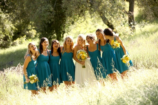 """Country Style Wedding - I'm glad It will be YEARS before I get married. Teal is a hot color now, so by the time I want to get hitched it won't be so """"in"""" and I will have a unique color. haha evil plan is set!"""