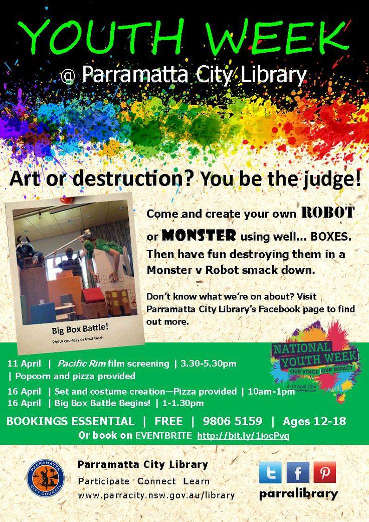 Celebrate Youth Week @ Parramatta Library.