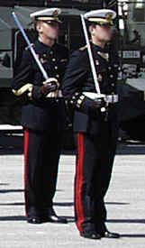 The Spanish Navy Marines is an elite corps, highly specialised in amphibious warfare, that is, to project an amphibious force onto a hostile, or potentially hostile, coast. Its ability to embark on a short term notice with (land, air and naval) Navy assets, makes it a unit with a high strategic value. Adding to this a high degree of training, and the capability to deploy swiftly in international waters, results in a potent dissuasive force available at a short notice in distant regions.