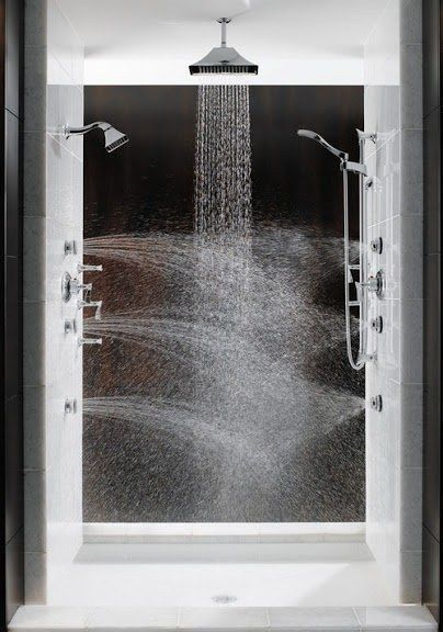 A multi-directional steam shower would do your body good. | 43 Insanely Cool Remodeling Ideas For Your Home - bathroom ideas