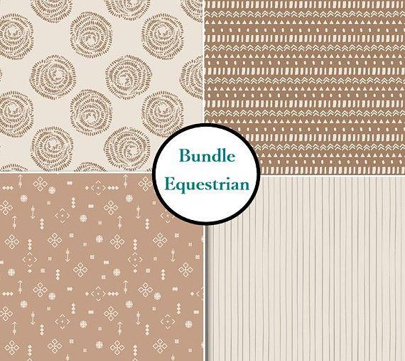 Kit 4 motifs 1 de chaque motif Equestrian Camelot Fabrics