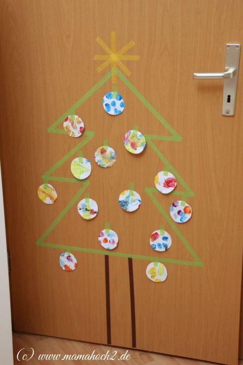 Masking Tape DIY Weihnachtsbaum - Mamahoch2