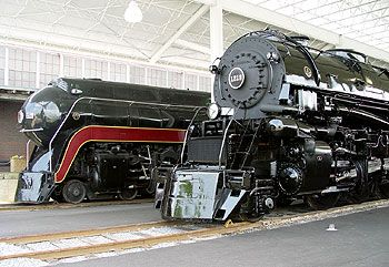 The 611 and 1218 at the Virginia Museum of Transportation