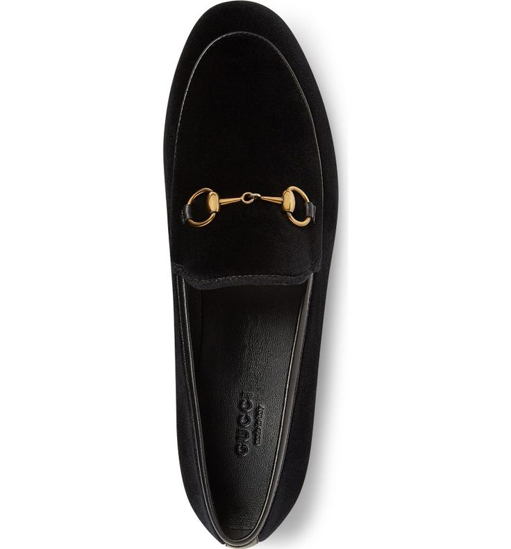Main Image - Gucci Brixton Velvet Loafer (Women)