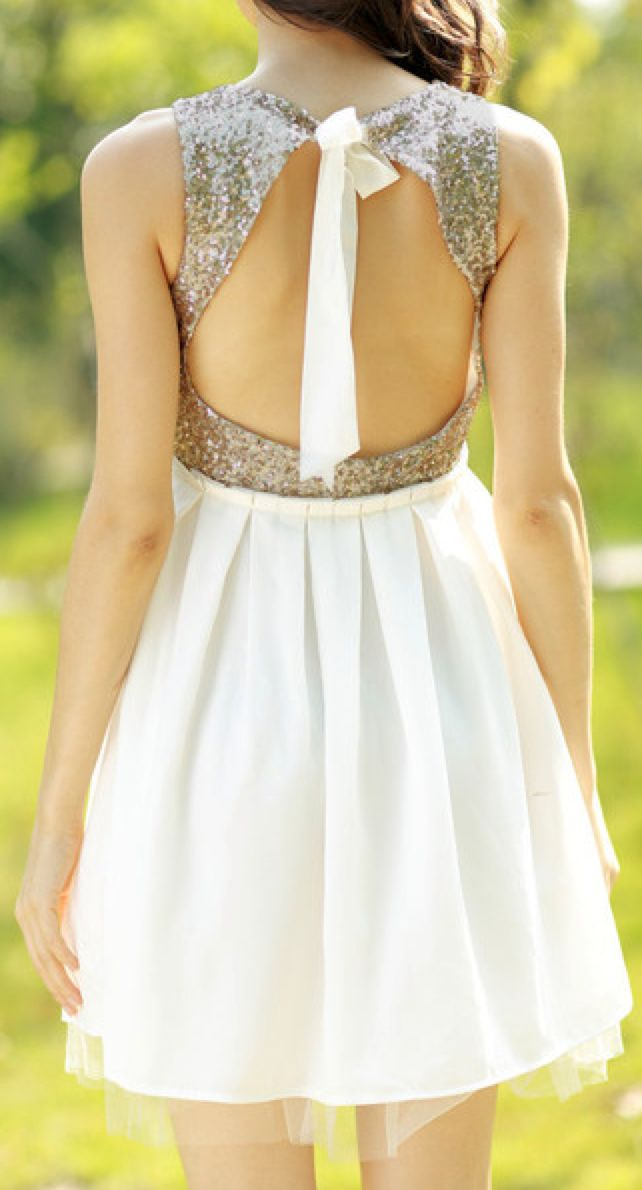 Backless sparkle dress