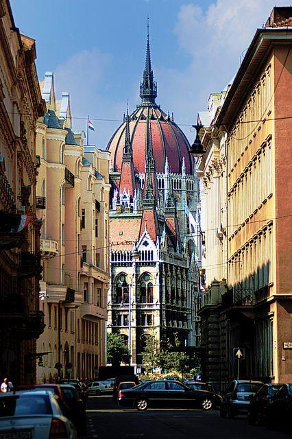 """Varhegy, Budapest, Hungary - """"Akadémia utca"""" by León de Nemea, via Flickr"""