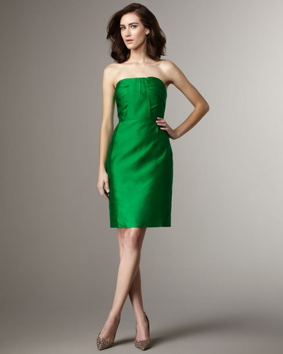 strapless dress green | ivo hoogveld