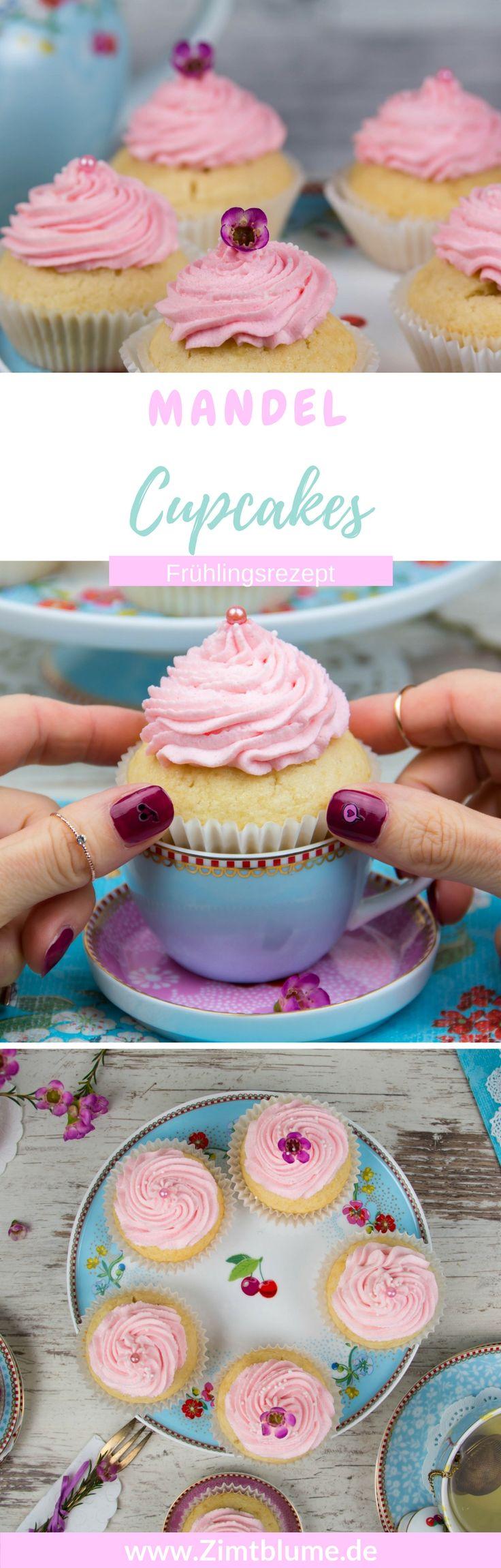 Rezept für rosa Mandel Cupcakes: Frühlingsbeginn mit Pip Studio via @DieZimtblume