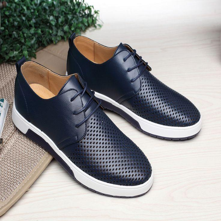 Merkmak New 2018 <b>Men Casual Shoes</b> Leather Summer ...