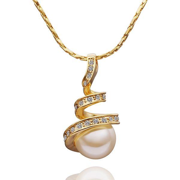 2017 Mujeres de Oro Perlas de La India Joyería Collar de Cadena Pendiente Del Encanto Bola Del Péndulo Bijouterie Bijoux Medallones Flotantes N589