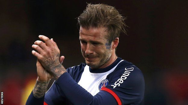 David Beckham: Tearful midfielder signs off with win in Paris