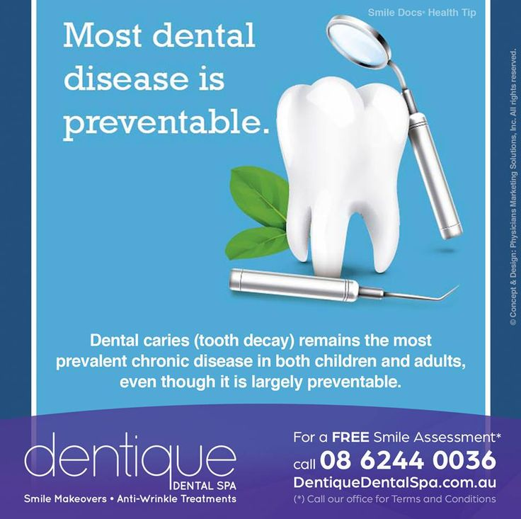 #HealthyTip — More dental desease is preventable… / For a Free Smile Assessment*, please call 08 6244 0036 - www.dentiquedentalspa.com.au / (*) Please call our office for Terms & Conditions. #SmileDocs #SmileDeals #drfurlan #dentiquedentalspa #australia #dental #practice #cosmetic #job #tmj #dentistry #invisalign #whitening #filler #care #dentist #anti #wrinkle #skincare #dermal #lip #fillers #porcelain #crowns #veneers #implant #clear #braces #teeth