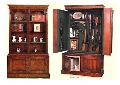 The Miller: Hidden Gun Cabinet Books and guns in one spot? I'm in!