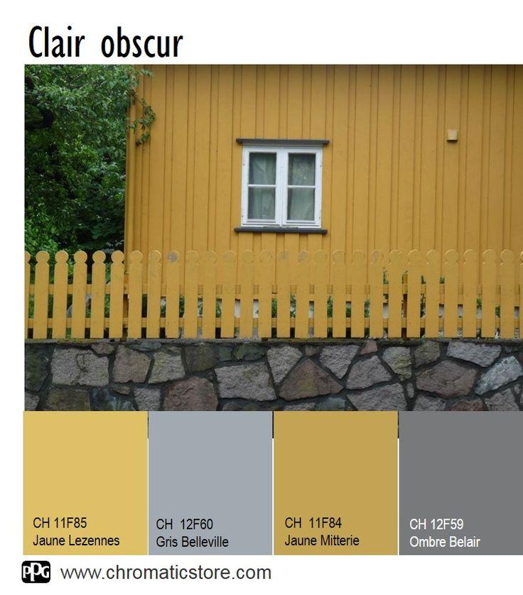 Les 34 meilleures images du tableau chromatic en facade for Couleurs facades exterieures