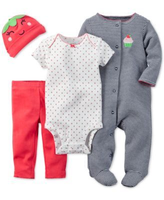 Carter's Baby Girls' 4-Piece Take Me Home Set