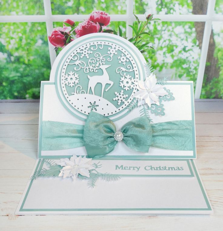 How to Make a Stag Christmas Card #TatteredLace #StephanieWeightman #CardMaking #Christmas