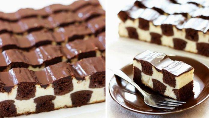 Čokoládový koláč ve tvaru šachovnice! Král všech dezertů! Připravený za 30 minut! Rozplývá se v ústech! | Vychytávkov