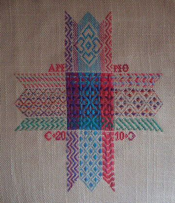 The Caron Collection On-line Class free darning/weaving pattern