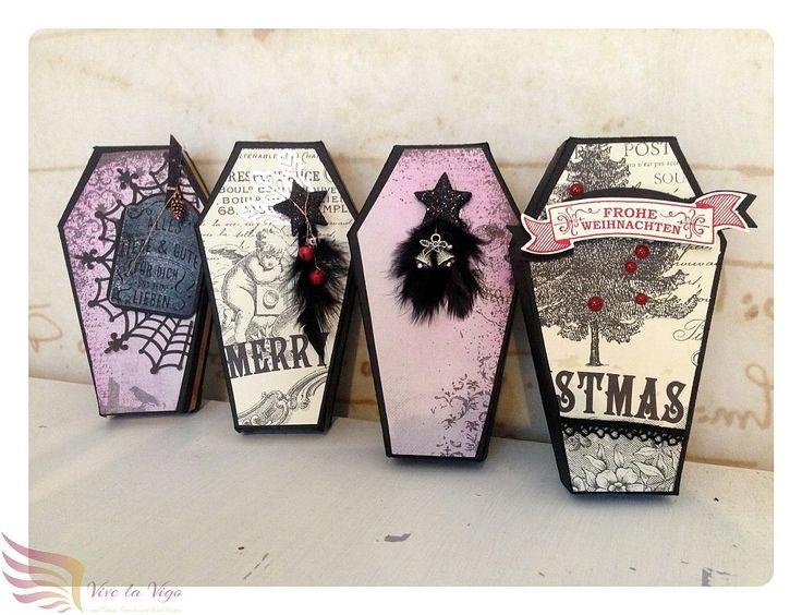 kleine Geschenkverpackung, nostalgisch, Sarg, Steampunk