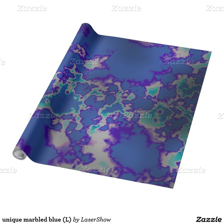 unique marbled blue (L) Wrapping Paper