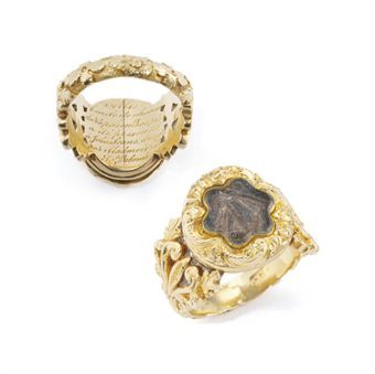 George III Gold Locket Ring